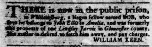 Sep 6 1770 - Virginia Gazette Rind Slavery 8