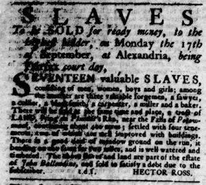 Sep 6 1770 - Virginia Gazette Rind Slavery 9