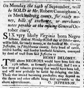 Sep 6 1770 - Virginia Gazette Slavery 5
