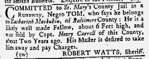Apr 12 1770 - Maryland Gazette Slavery 2