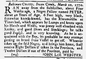Apr 12 1770 - Maryland Gazette Slavery 6