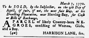 Apr 12 1770 - Maryland Gazette Slavery 7