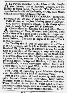 Apr 12 1770 - Maryland Gazette Slavery 8