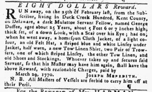 Apr 12 1770 - Pennsylvania Gazette Slavery 1