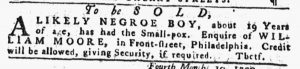 Apr 12 1770 - Pennsylvania Gazette Slavery 2