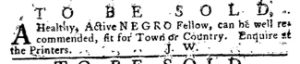 Apr 12 1770 - Pennsylvania Journal Slavery 2