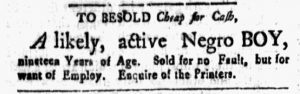 Apr 13 1770 - New-Hampshire Gazette Slavery 1