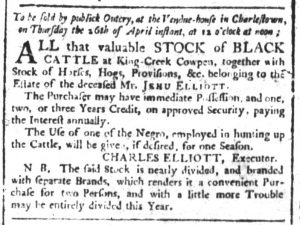 Apr 13 1770 - South-Carolina and American General Gazette Slavery 1
