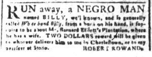 Apr 13 1770 - South-Carolina and American General Gazette Slavery 2