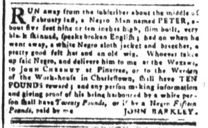 Apr 13 1770 - South-Carolina and American General Gazette Slavery 4