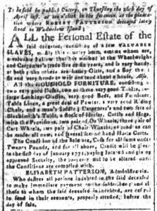 Apr 13 1770 - South-Carolina and American General Gazette Slavery 6