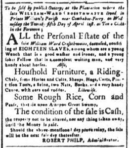 Apr 13 1770 - South-Carolina and American General Gazette Slavery 7
