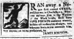 Apr 13 1770 - South-Carolina and American General Gazette Slavery 8