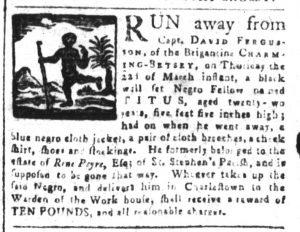 Apr 13 1770 - South-Carolina and American General Gazette Slavery 9