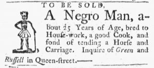 Apr 16 1770 - Massachusetts Gazette and Boston Post-Boy Slavery 1