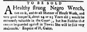 Apr 16 1770 - New-York Gazette and Weekly Mercury Slavery 2