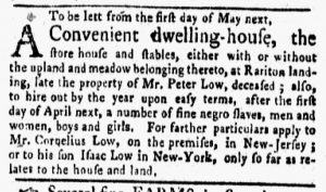 Apr 16 1770 - New-York Gazette and Weekly Mercury Supplement Slavery 2