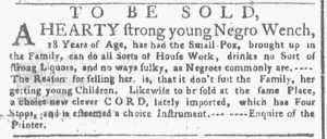 Apr 16 1770 - New-York Gazette or Weekly Post-Boy Slavery 2