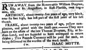Apr 17 1770 - South-Carolina Gazette and Country Journal Supplement Slavery 5