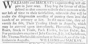 Apr 18 1770 - Georgia Gazette Slavery 3