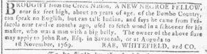 Apr 18 1770 - Georgia Gazette Slavery 4