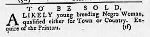 Apr 19 1770 - Maryland Gazette Slavery 2