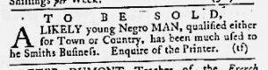 Apr 19 1770 - Maryland Gazette Slavery 3