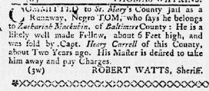 Apr 19 1770 - Maryland Gazette Slavery 4