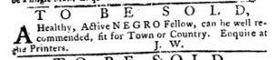 Apr 19 1770 - Pennsylvania Journal Slavery 3
