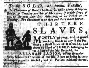 Apr 19 1770 - South-Carolina Gazette Slavery 1