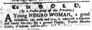 Apr 19 1770 - South-Carolina Gazette Slavery 11
