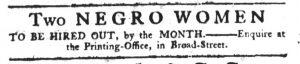 Apr 19 1770 - South-Carolina Gazette Slavery 12