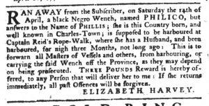 Apr 19 1770 - South-Carolina Gazette Slavery 14