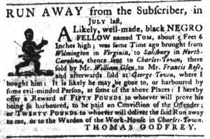 Apr 19 1770 - South-Carolina Gazette Slavery 4