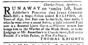 Apr 19 1770 - South-Carolina Gazette Slavery 6
