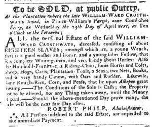 Apr 19 1770 - South-Carolina Gazette Slavery 7
