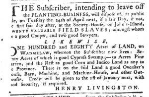 Apr 19 1770 - South-Carolina Gazette Slavery 8