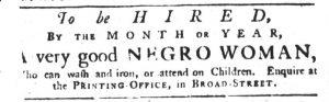 Apr 19 1770 - South-Carolina Gazette Slavery 9