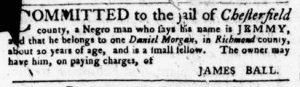 Apr 19 1770 - Virginia Gazette Purdie & Dixon Slavery 2