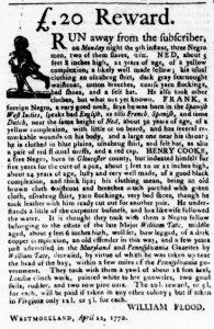 Apr 19 1770 - Virginia Gazette Purdie & Dixon Slavery 3