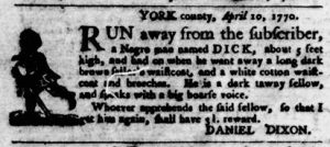 Apr 19 1770 - Virginia Gazette Purdie & Dixon Slavery 4