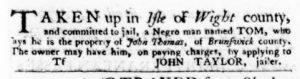 Apr 19 1770 - Virginia Gazette Purdie & Dixon Slavery 5
