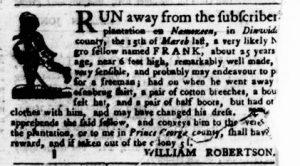 Apr 19 1770 - Virginia Gazette Purdie & Dixon Slavery 7