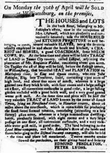 Apr 19 1770 - Virginia Gazette Purdie & Dixon Slavery 8