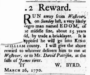 Apr 19 1770 - Virginia Gazette Purdie & Dixon Slavery 9