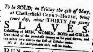 Apr 19 1770 - Virginia Gazette Rind Slavery 2