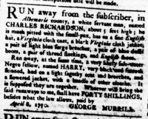 Apr 19 1770 - Virginia Gazette Rind Slavery 3