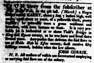 Apr 19 1770 - Virginia Gazette Rind Slavery 7