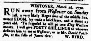 Apr 19 1770 - Virginia Gazette Rind Slavery 9