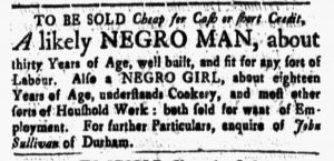 Apr 20 1770 - New-Hampshire Gazette Slavery 1